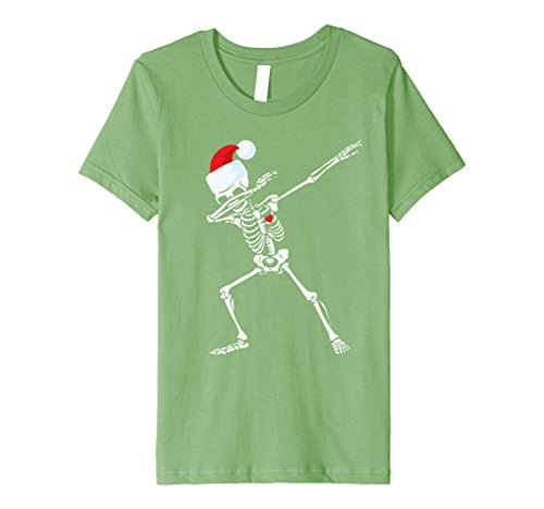 Girl Party Santa City Costume (Kids Dabbing Skeleton Santa T-Shirt Christmas Hip Hop Dab Skull 10)