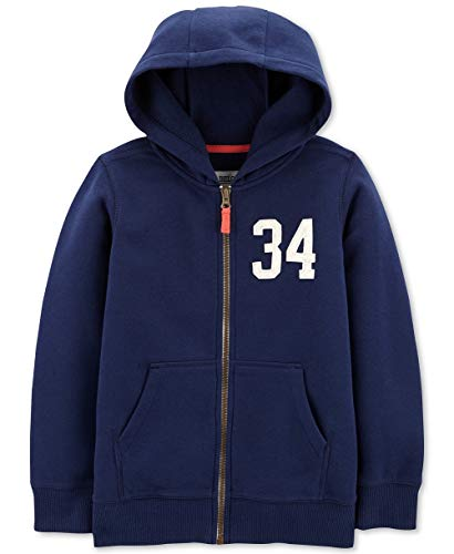 Carters Boys Classic Fleece Zip-Up Hoodie (Navy Blue, 6 ()