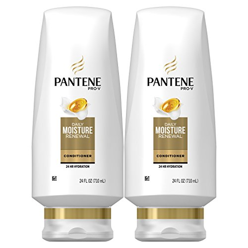 Dry Hair Moisture - Pantene Moisturizing Conditioner for Dry Hair, Daily Moisture Renewal, 24 Fl Oz (Pack of 2) (Packaging May Vary)