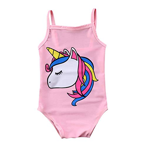 Pink Infant One Piece - Toddler Baby Girl Unicorn Swimsuit One-Piece Swimwear Infant Sunsuits Bathing Suits (Pink, 6-12 Months)