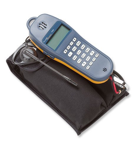 Telephone Test Set - Fluke Networks 25501109 TS25D Telephone Test Set with Angled Bed-of-Nails Clips, Earpiece, 6-Wire In-line Modular Adapter, and Pouch