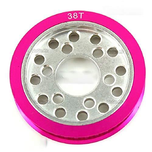 HERCHR CNC Aluminum Metal 38T Pulley Gear for 3racing SAKURA Zero S D3 1/10 Drift Car, Pink ()