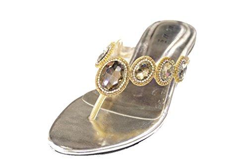 Wear 43 Sandales amp; pour femme UK Doré Walk OqrTxwOR