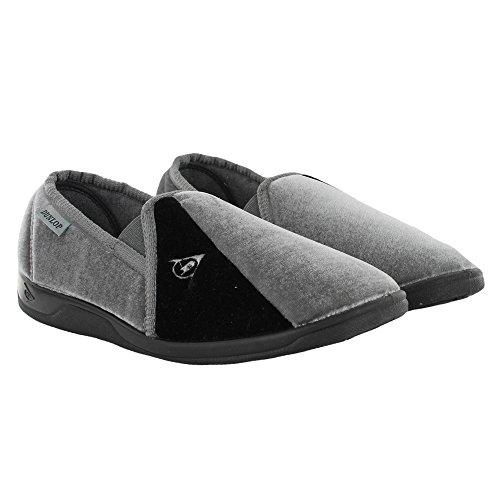 Dunlop - Zapatillas de estar por casa para hombre Grey Navy