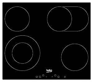 Beko HIC 64403 Integrado Cerámico Negro hobs - Placa (Integrado, Cerámico, Vidrio y cerámica, Negro, 1200 W, 1500 W)