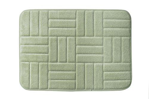 Popular Bath VARQUET Single Rug, Sage (Sage Green Memory Foam Bath Mat)