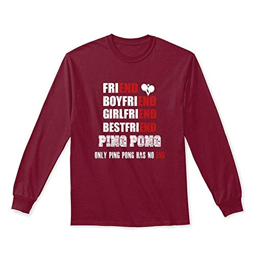 Ping Mens Long Sleeve - Only ping. L - Cardinal red Long Sleeve Tshirt - Gildan 6.1oz Long Sleeve Tee