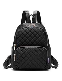 Myhozee Womens Backpacks Purses Waterproof Nylon Anti Theft Fashion Small Mini Rucksack Lightweight Casual Shoulder Bags Girls School Daypack - Black