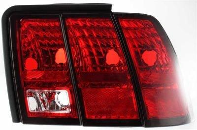 Evan-Fischer EVA15672014988 Tail Light Passenger Side RH Plastic lens OE design Clear and red DOT, SAE - Design Side Passenger