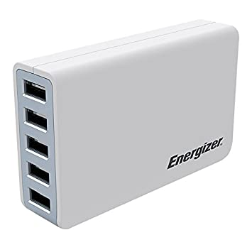 Energizer USA5DEUHWH5 - Cargador USB Multi Puerto (40 W ...