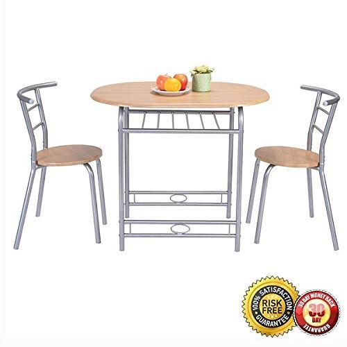 New 3 PCS Table Chairs Set Kitchen Furniture Pub Home Restaurant Dining Set