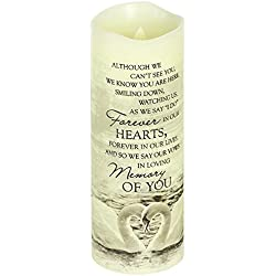"Carson, Everlasting Glow With Premier Flicker ""In Loving Memory"" Candle White"