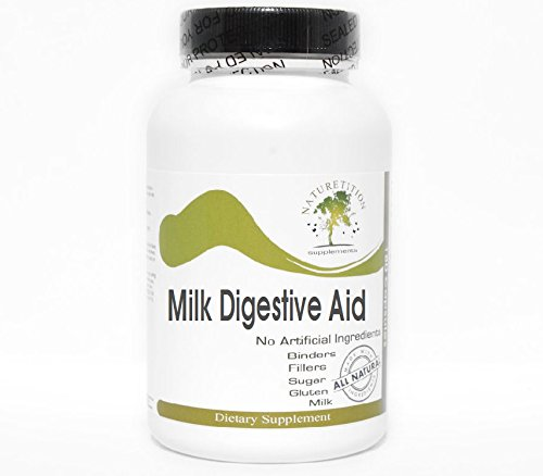Milk Digestive Aid ~ 100 Capsules - No Additives ~ Naturetition Supplements by Naturetition Supplements