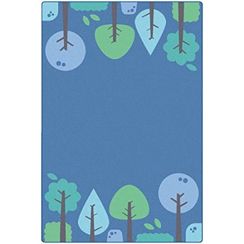 Trees Tranquil (Carpets for Kids 1754 Kidsoft Tranquil Trees - Blue, Multi)