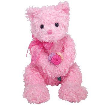 (Ty Beanie Baby Pinkys Radiance the Pink Bear w Roses)