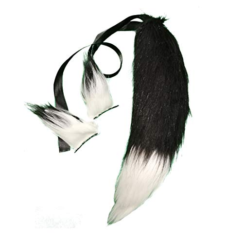 Fluffy Faux Fur Fox Tail Ears Hair Clips for Kids Cosplay Costume Halloween Dress Up Kits 14