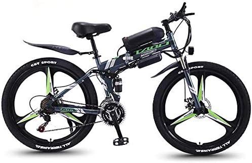 QZ Plegable for Adultos eléctrico de Bicicletas de montaña, Bicicletas de Nieve 350W, 36V 10AH extraíble de Iones de Litio para, Suspensión Prima Completa 26 Pulgadas Bicicleta eléctrica: Amazon.es: Deportes y aire
