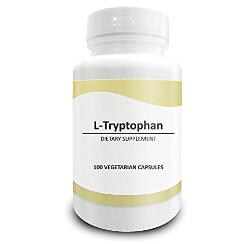 Pure Science L-Tryptophan 500mg – Regulates Mood, Improves Relaxation & Sleep, Supports Metabolism & Improves Overall Health – 100 Vegetarian Capsules of L-Tryptophan Powder