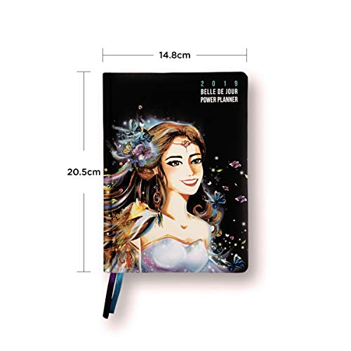 Belle de Jour Power Planner 2019 for Goal and Life - Weekly, Monthly and Yearly Planner - Calendar + Organizer - International Edition - Black, Blue, and Purple Photo #2