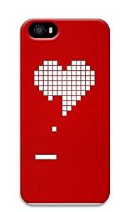 iPhone 5 5S Case 8 Bit Heart Valentines Day3 3D Custom iPhone 5 5S Case Cover