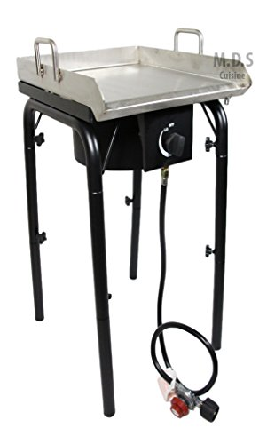 Stainless Steel Griddle 18'x16' Plancha with Heavy Duty Stand,BBQ Outdoors,Grill,Flat Top,Stove,High Pressure Burner,