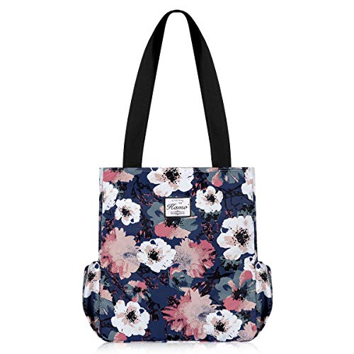KAMO Floral Tote Bag - Waterproof Lightweight Handbags Travel Shoulder Bag for Hiking Yoga Gym Swimming Travel ()