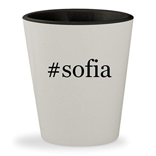 Sofia The First Costume Facebook (#sofia - Hashtag White Outer & Black Inner Ceramic 1.5oz Shot Glass)