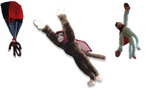 3pc Set Slingshot Flingshot Superfly Parachute, Glow in the Dark, and Classic Monkeys (Glow In The Dark Toy Parachute)