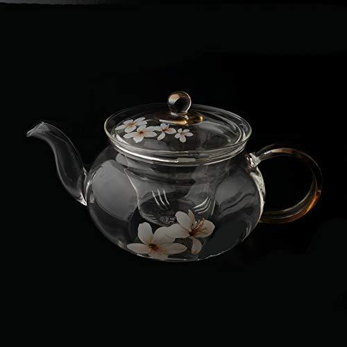 POTOLL Teiera Lunga in Vetro Pieno Tonghua Resistente al Set da tè con Filtro per l'acqua Calda Prezzi