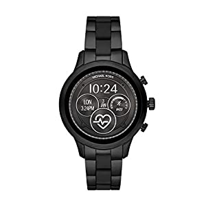 Michael Kors Access Womens Runway Touchscreen Smartwatch Stainless Steel Bracelet watch, Black, MKT5058