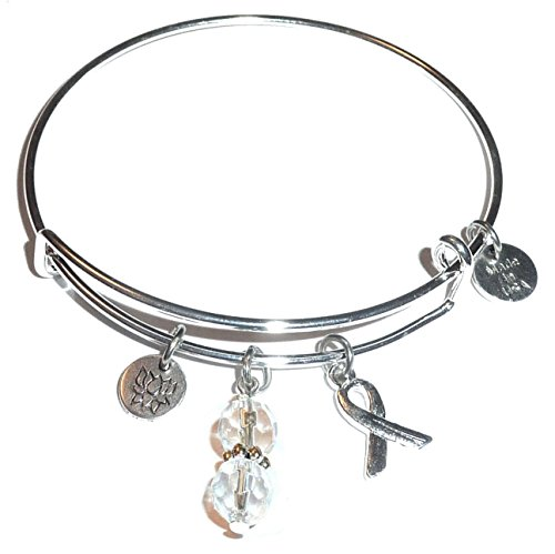 Cancer Awareness  Hope For The Cure  Expandable Wire Bangle Bracelet  Comes In A Gift Box   Plain  All Cancers
