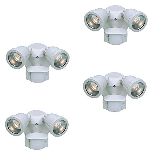 Designers Fountain PH218S-06-4 Area & Security 180° QH Motion Detector (4 Pack), 9'' by Designers Fountain