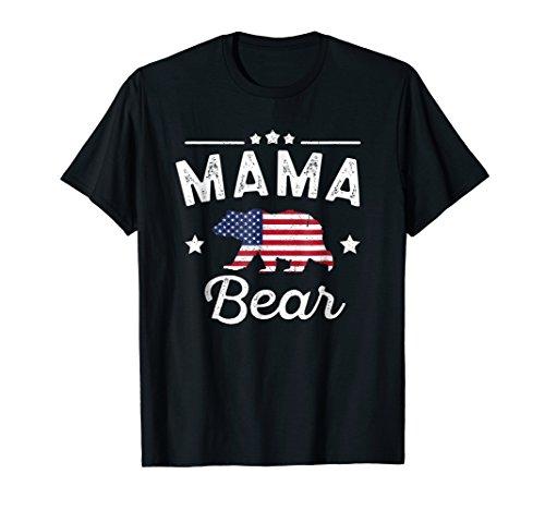 (Mama Bear Patriotic Flag Matching 4th Of July)