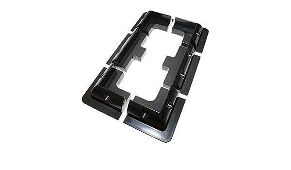 Lowenergie Juego de 6 piezas de soporte de montaje de panel solar negro rectangular para caravanas, autocaravanas, barcos y cualquier superficie plana: ...