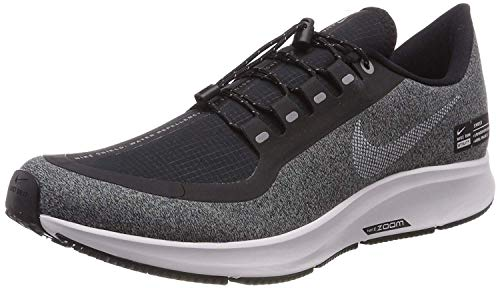 Nike Womens Pegasus 35 Fabric Low Top Lace Up, Black/White-Cool Grey, Size 9.0