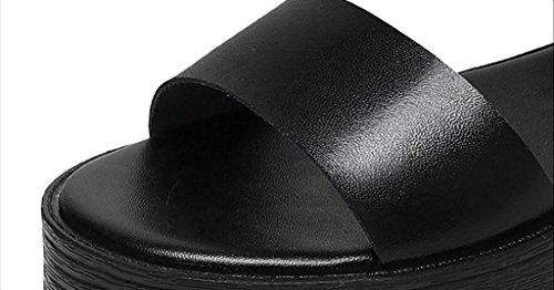 Couleur FAFZ femmes plates mode taille romaines épaisses plates de sandales B sandales Sandales chaussures B Sandales nbsp; coréennes simples 36 chaussons sauvages d'été rEUwqrR7