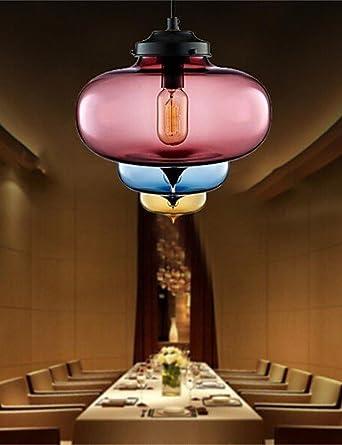 Los siete rayos Retro única cabeza creativa Lámpara Colgante Cristal Bar Bar Bar Cafetería restaurante en la pecera , blanco cálido-220-240v Z2701: ...