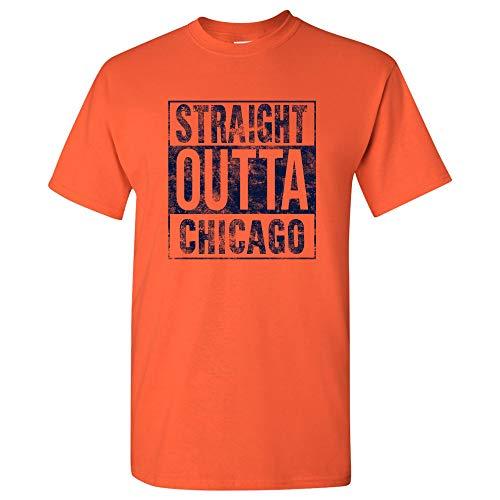 UGP Campus Apparel Straight Outta Chicago - Chicago Football T Shirt - Medium - Orange