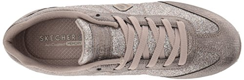 Mujer Highrise T Skechers73931 Purpurina Dedos Pewter Con 4wgqZX
