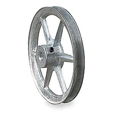 "5/8"" Fixed Bore 1 Groove V-Belt Pulley 8"" OD"