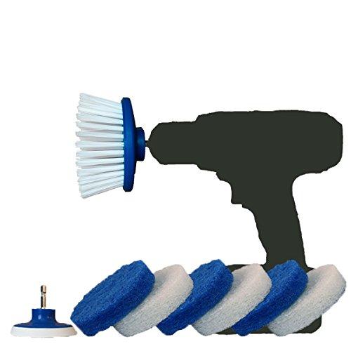 RotoScrub Drill Powered Scrub Brush & Bathroom Cleaning Drill Accessory - Combo (Accessory Combo Kit)