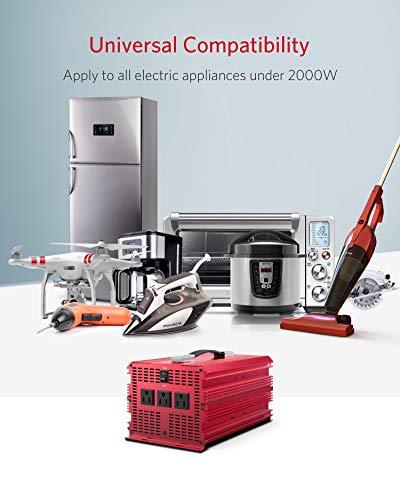 BESTEK 2000W Power Inverter 3 AC Outlets DC 12V to 110V AC Car Inverter Outdoor Emergency Power Supply ETL Listed by BESTEK (Image #5)