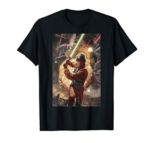 Star Wars Luke Skywalker Charging Poster Graphic T-Shirt