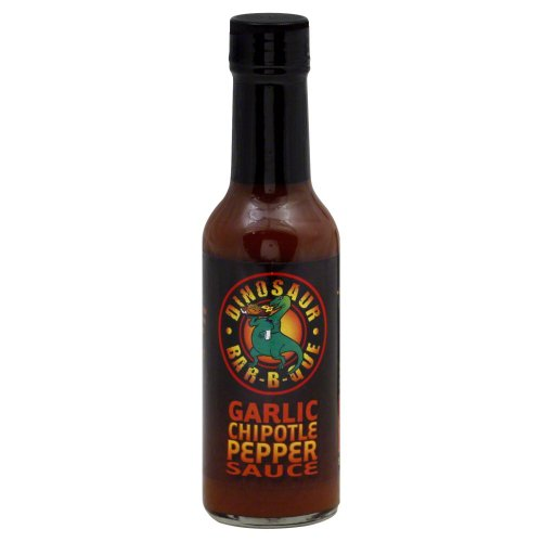 Dinosaur Bar-b-que Garlic Chipotle Pepper Sauce, 5 Ounce