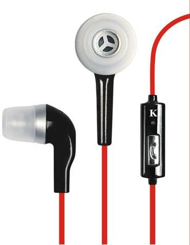 Wholesale Lot of 42 Earphone, Wired Earphones In-Ear Earbud With Microphone Noise Isolating Earbuds Stereo Headphones for iPhone iPad iPod MP3 MP4 Tablets Samsung and other Smartphone (Red) from KIKO Wireless