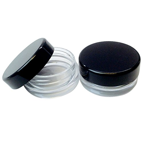 -  Orcbee  _25Pcs 5g White Clear Cosmetic Empty Jar Pot Eyeshadow Makeup Cream Lip Balm
