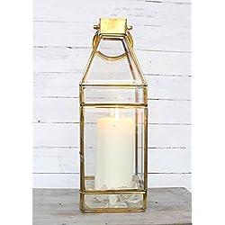 """Afloral Gold Lantern - 13"""" x 4.5"""""""