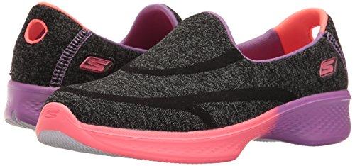 Skechers Kids Girls Go Walk 4-Awesome Ombres Loafer,Black/Multi,5.5 M US Big Kid by Skechers (Image #6)