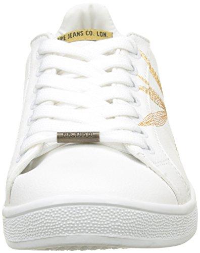 Pepe Jeans Damen Brompton Ricamo Sneaker Weiß (bianco)