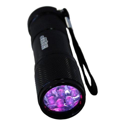 HQRP Professional 365 nM 9 UV LED Longwave Ultraviolet Leak Detection Flashlight / Blacklight + HQRP UV Meter by HQRP (Image #1)
